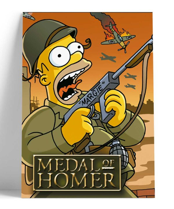 Cuadro Homero Medal of Homero