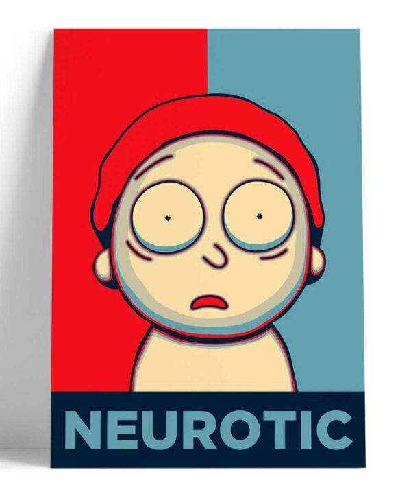 Cuadro Morty Neurotico - Neurotic