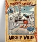 Cuadro-Vintage-Mickey-Mouse-Airship-Willie