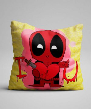 Cojín de deadpool I LOVE YOU