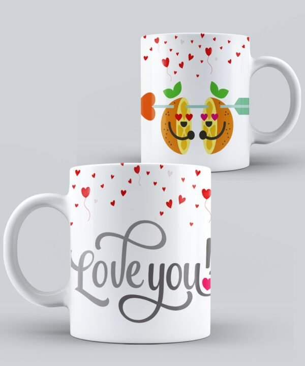 Mug de Amor Love you Naranjas
