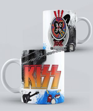 Mug de Banda Musical Kiss