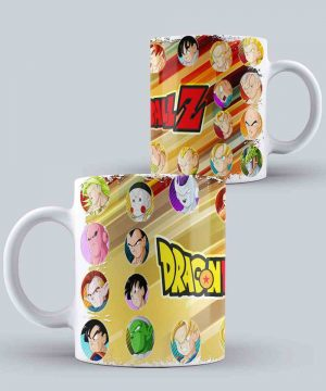 Mug de Dragon ball de personajes principales de Dragon ball Z