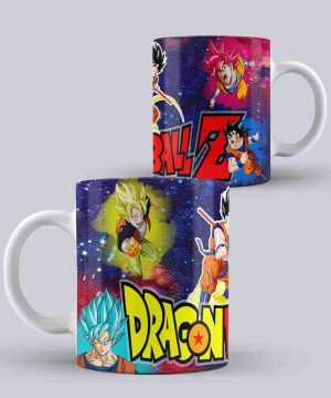 Mug de dragon ball fases de goku