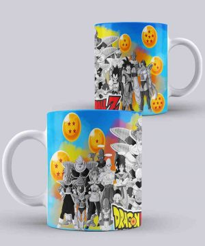 Mug de dragon ball personajes saga freezer